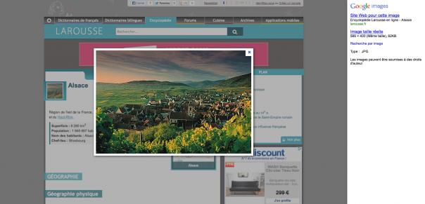 Google Images : Ancienne interface utilisateur - Détails