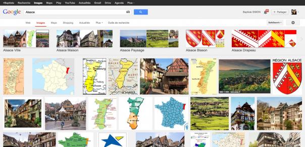 Google Images : Nouvelle interface utilisateur - Carrousel