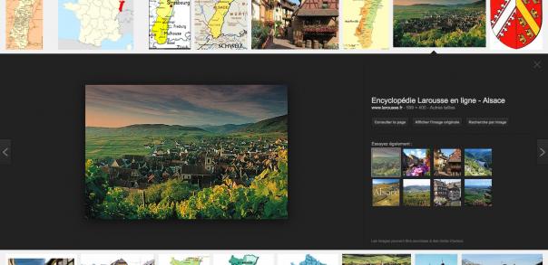 Google Images : Nouvelle interface utilisateur - Carrousel détails