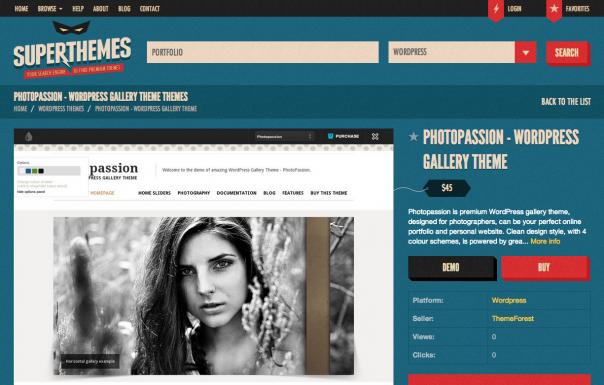 SuperThemes : Page de détails