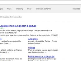 Google : Nouvelle interface utilisateur