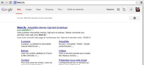 Google : Nouvelle interface utilisateur depuis Chrome