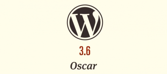 Logo WordPress 3.6 Oscar