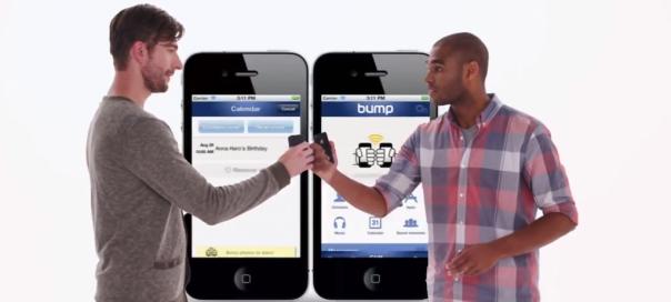 Bump : Le partage de données facile entre smartphones