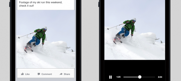 Facebook : Lecture auto des vidéos dans le flux d'actualités