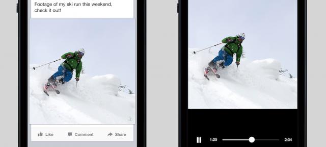 Facebook : Vidéos auto-play