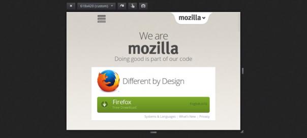 Firefox : Nouveautés pour la vue adaptative (responsive)