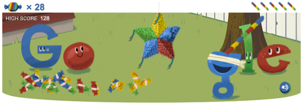Google : Doodle piñata pour ses 15 ans
