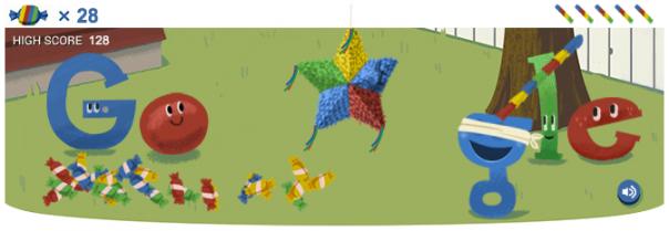 Google : Doodle piñata pour ses 15 ans