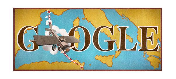 Google : Doodle Roland Garros & Traversée aérienne de la Méditerannée