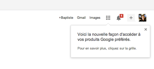 Google : Produits préférés via le menu et raccourcis