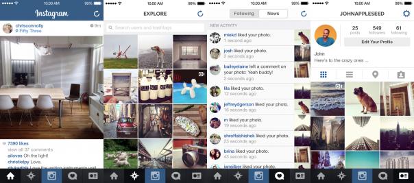 Instagram pour iOS 7