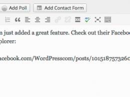 WordPress : Insertion de publication Facebook