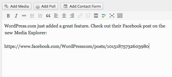 WordPress.com : Insertion des posts Facebook automatique
