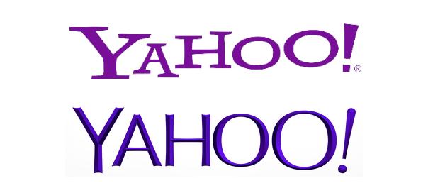 Logos Yahoo - Ancien et nouveau