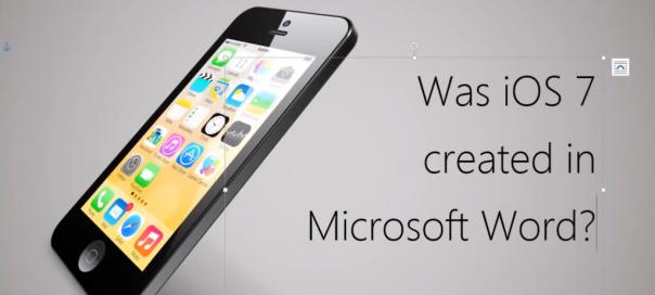 iOS 7 : UI de l'OS mobile créée sur Microsoft Word ?