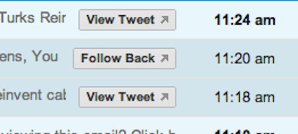 Twitter : Actions rapides dans Gmail via Schema.org