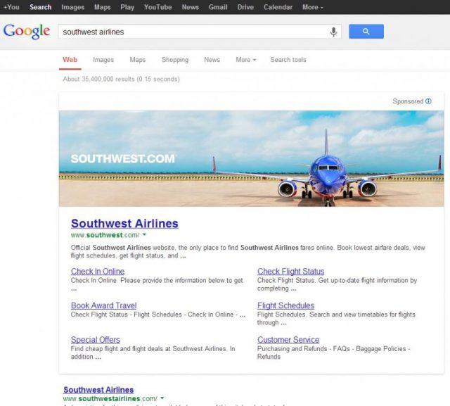 Google AdWords : Bannière publicitaire dans les SERPS