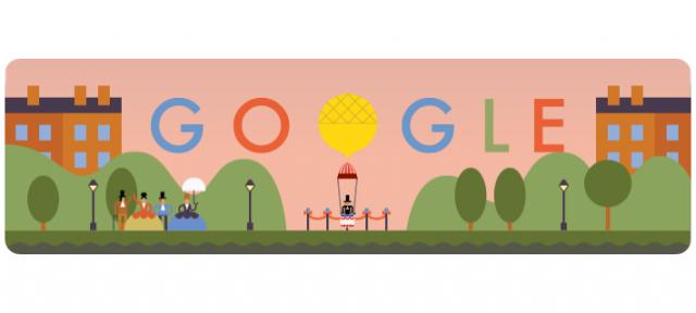 Google : Doodle André-Jacques Garnerin