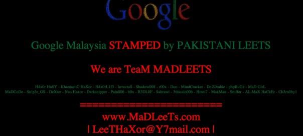 Google Malaisie : Piratage de la page d'accueil