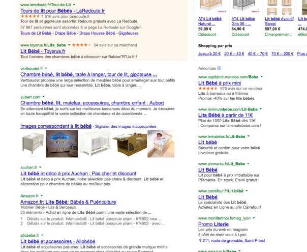 Google : Snippet - Domaines avant titre & description (Détails)