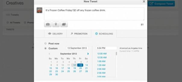 Twitter : Tweets programmés pour les marques