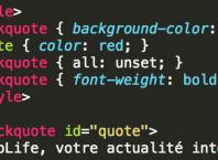 Propriété CSS - all: unset;
