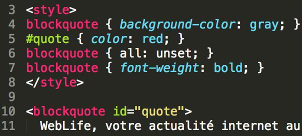 CSS : all: unset, le reset de styles facile