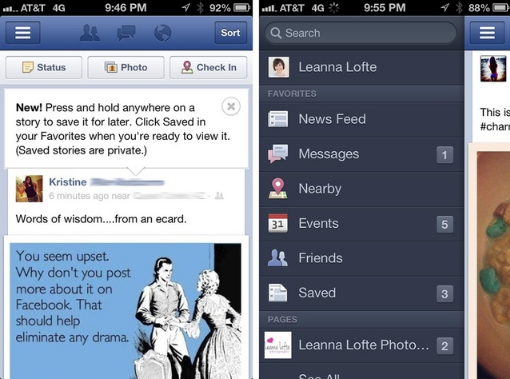 Facebook : Publication sauvegardée