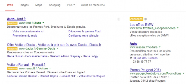 Google AdWords : Label Annonce
