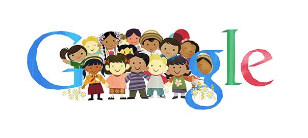 Google : Journée des droits de l'enfant en doodle