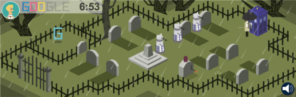 Google Doodle Doctor Who Niveau 4 604x199
