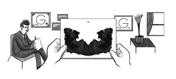 Google : Hermann Rorschach & son test en doodle