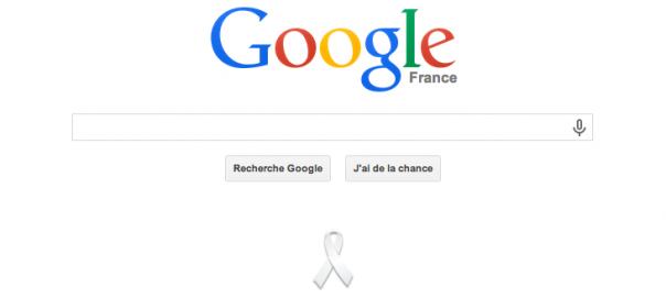 Google : Ruban blanc contre la violence envers les femmes