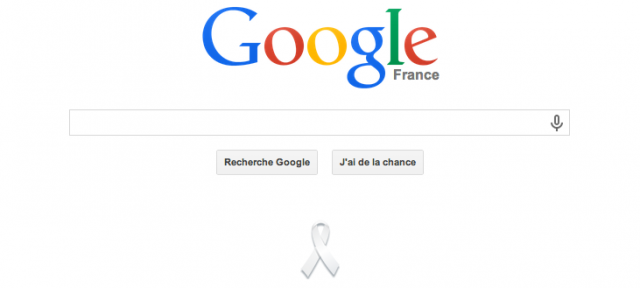 Google : Ruban blanc
