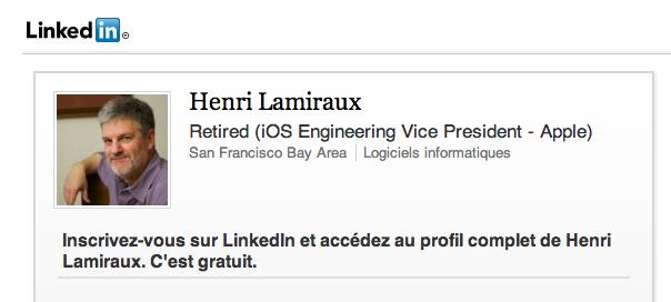 Apple : Henri Lamiraux, l'ingénieur français quitte la société