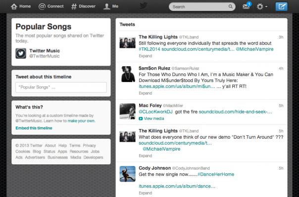 Twitter : Timeline personnalisée