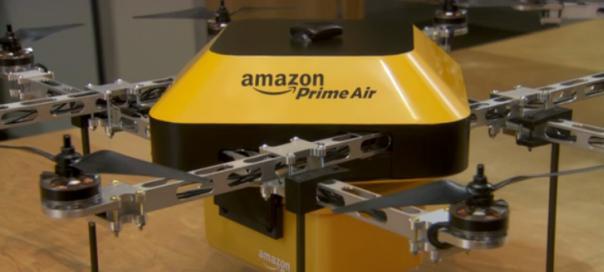 Amazon Prime Air : Drone autonome pour livraison en 30min