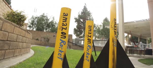 Amazon Rockets : Fusées pour livraison de 3 à 5 minutes