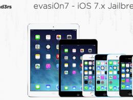 Evad3rs Evasi0n7 : Jailbreak iOS 7
