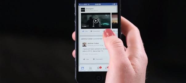 Facebook : Annonces vidéo auto-play visibles