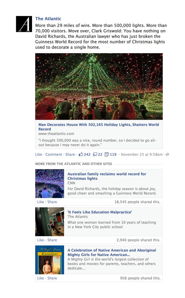 Facebook : Plus d'actualités