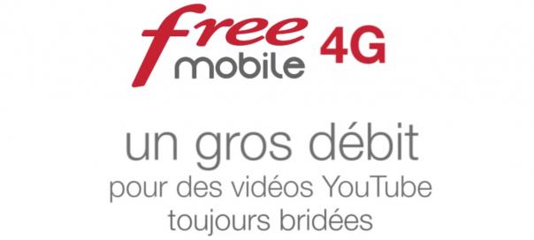 Free Mobile 4G : Les vidéos YouTube toujours bridées