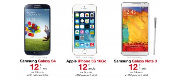 Free Mobile : Location de smartphones haut de gamme
