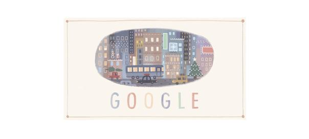 Google : Doodle de Joyeuses Fêtes