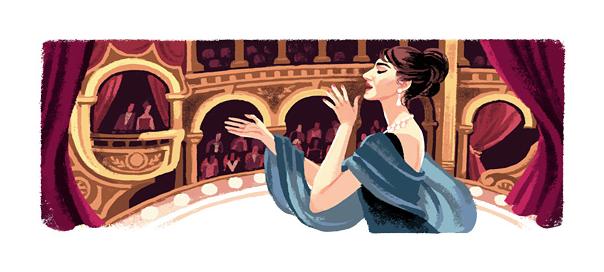 Google : Maria Callas, la cantatrice grecque en doodle