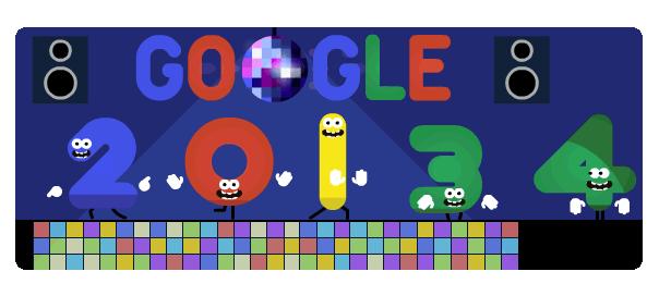 Google : Réveillon 2013 en doodle & nouvelle année 2014