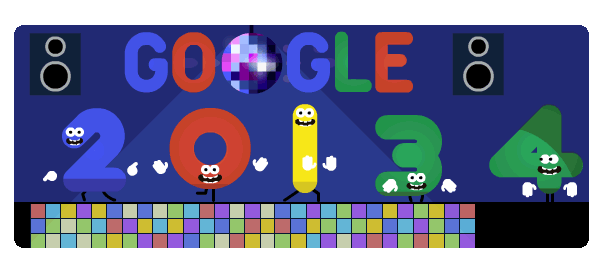 Google : Doodle Réveillon 2013