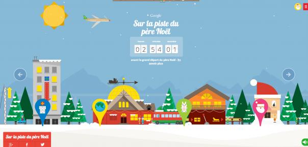 Google : Piste de Père Noël