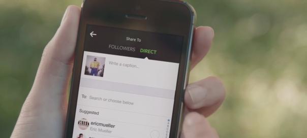 Instagram Direct : Envoyer photos et vidéos à ses amis